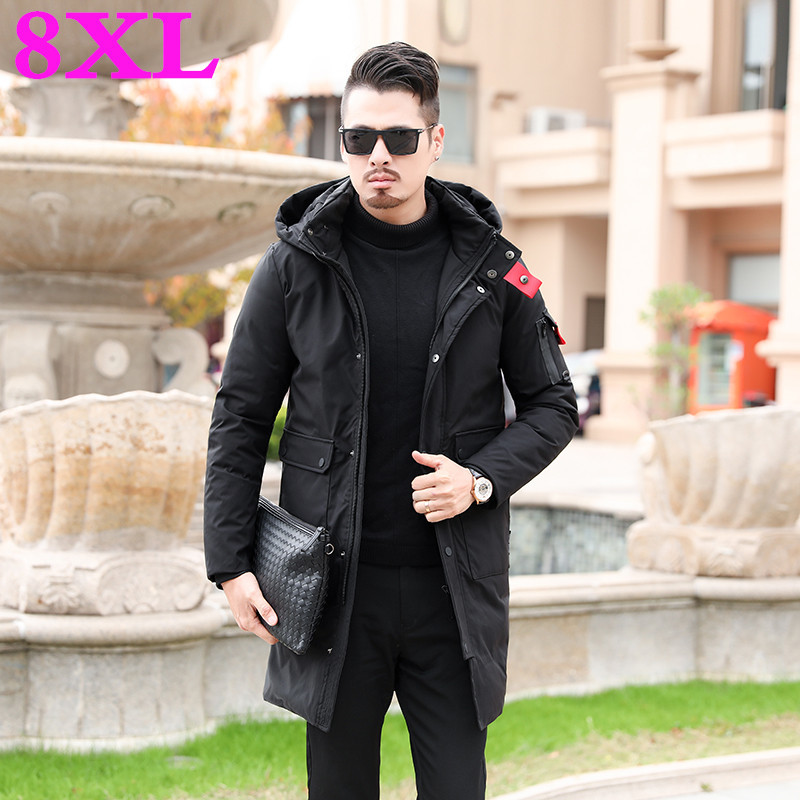 Men's Monochrome Winter Jacket Men's Monochrome Metal Zipper Zipper
