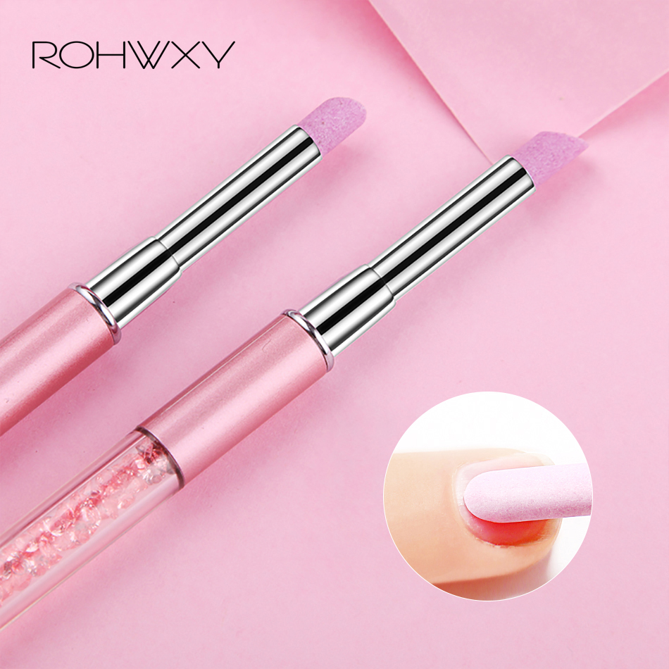 ROHWXY New Unique Stone Nail File Professional Cuticle Remover Trimmer Buffer Pedicure Manicure Nail Art Tool Crystal Nail File