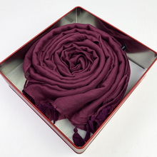 Women Hijab Scarf Shawls Head-Scarves Wraps Viscose-Tassel Soft And Turban Trendy Solid-Color