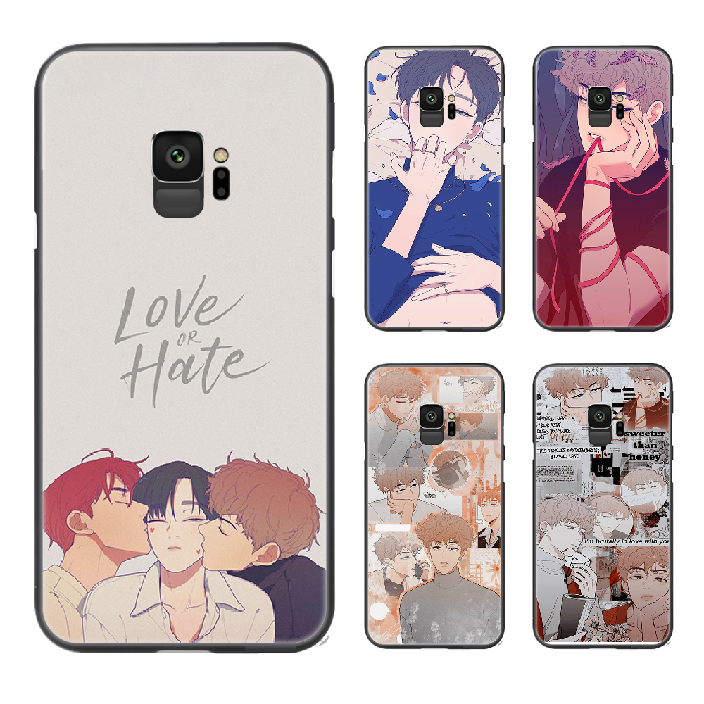 Love or Hate Boy Phone Case Cover For Samsung Galaxy A10 A20 A30 E A40 A50 A51 A70 A71 J 5 6 7 8 S black prime silicone funda 3D