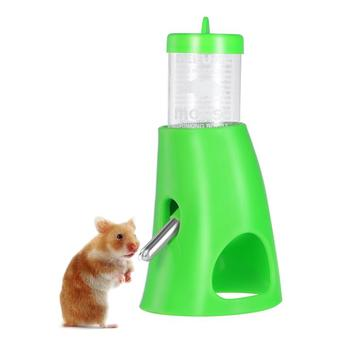 2 In 1 Hamster House Small Animal Hideout Pet Hideout Drinking Water Bottle With Plastic Base Hut Living Habitat For Hamster