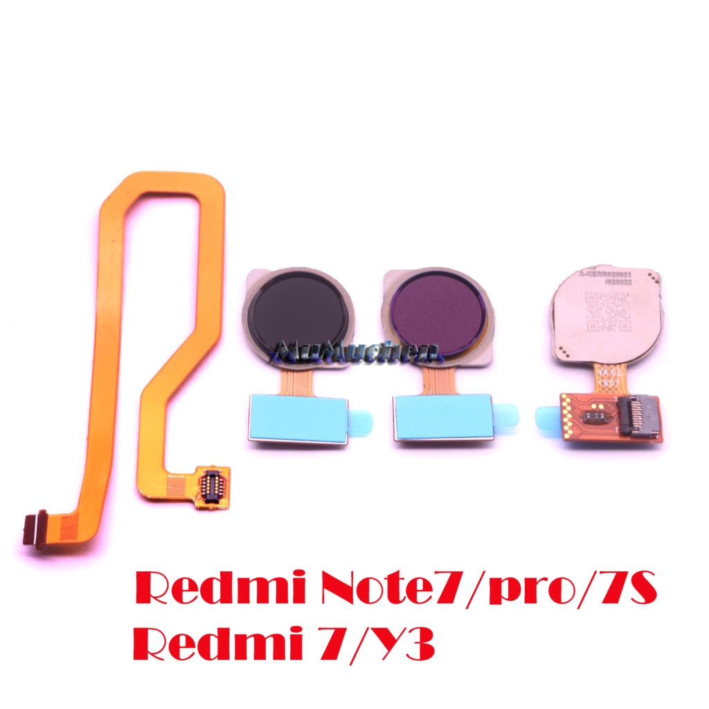 For Xiaomi Redmi Note 7/ Pro 7S  Redmi 7 Y3 Fingerprint Sensor Scanner Connector Home Button Key Touch ID Flex Cable