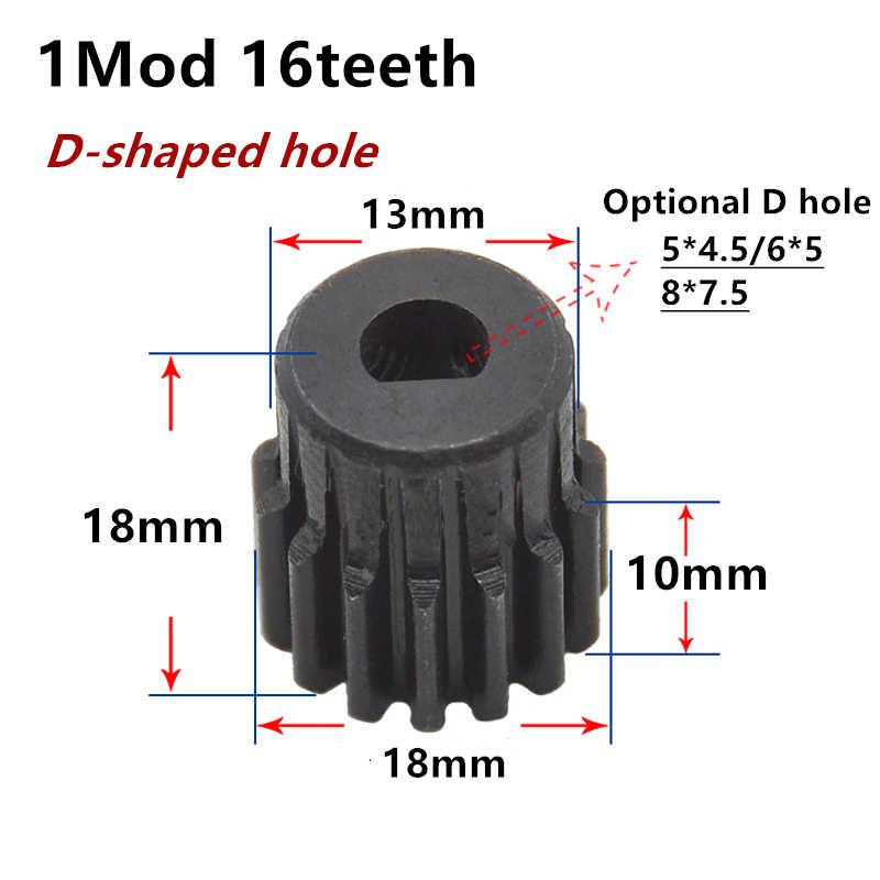 1 adet düz dişli 1 mod 16 diş 1M16T D şekilli bitmiş delik metal motor ile patron step dişli
