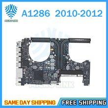 """لوحة أم أصلية A1286 لـ Macbook Pro 15 """"2010 لوحة منطقية للكمبيوتر المحمول i7 2.66Ghz 820 2850 A 2011 2.0Ghz 820 2915 B 2012 2.3GHz"""