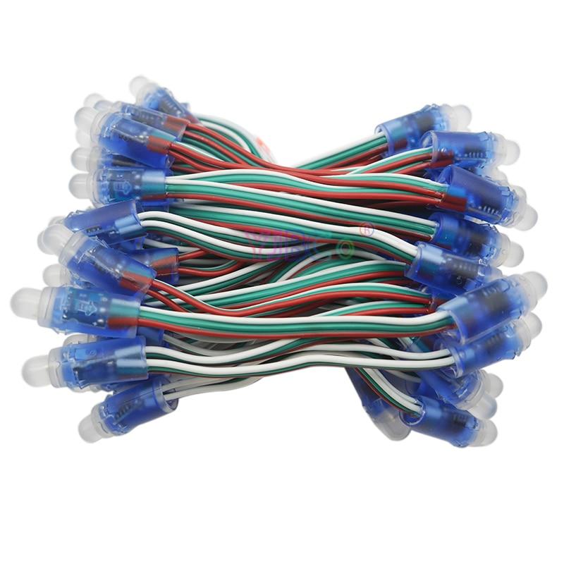 50pcs String WS2811 Waterproof Module 5V  Pixel  RGB Bead Addressable LED Module Light String IP68