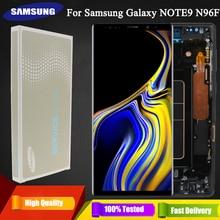 """6.4 """"original super amoled note9 display lcd para samsung galaxy note 9 n960d n960f lcd peças de reposição da tela toque + quadro"""