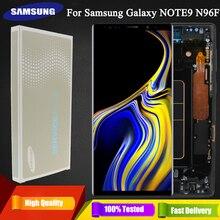"""6.4 """"oryginalny Super AMOLED Note9 wyświetlacz LCD do Samsung Galaxy NOTE 9 N960D N960F ekran dotykowy LCD części zamienne + rama"""