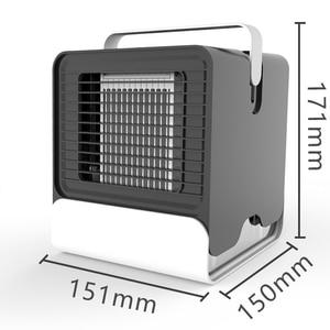 Image 5 - 에어 쿨러 팬 에어 컨디셔너 가습기 냉각 팬 미니 USB 휴대용 책상 테이블 Dropshipping 10 15 일 미국에서 도착 EU FA