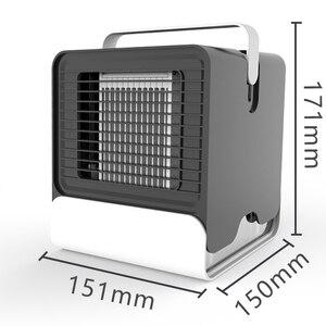 "Image 5 - מצנן אוויר מאוורר מזגן אדים קירור מאוורר מיני USB נייד שולחן שולחן Dropshipping 10 15 ימים להגיע ארה""ב האיחוד האירופי FA"