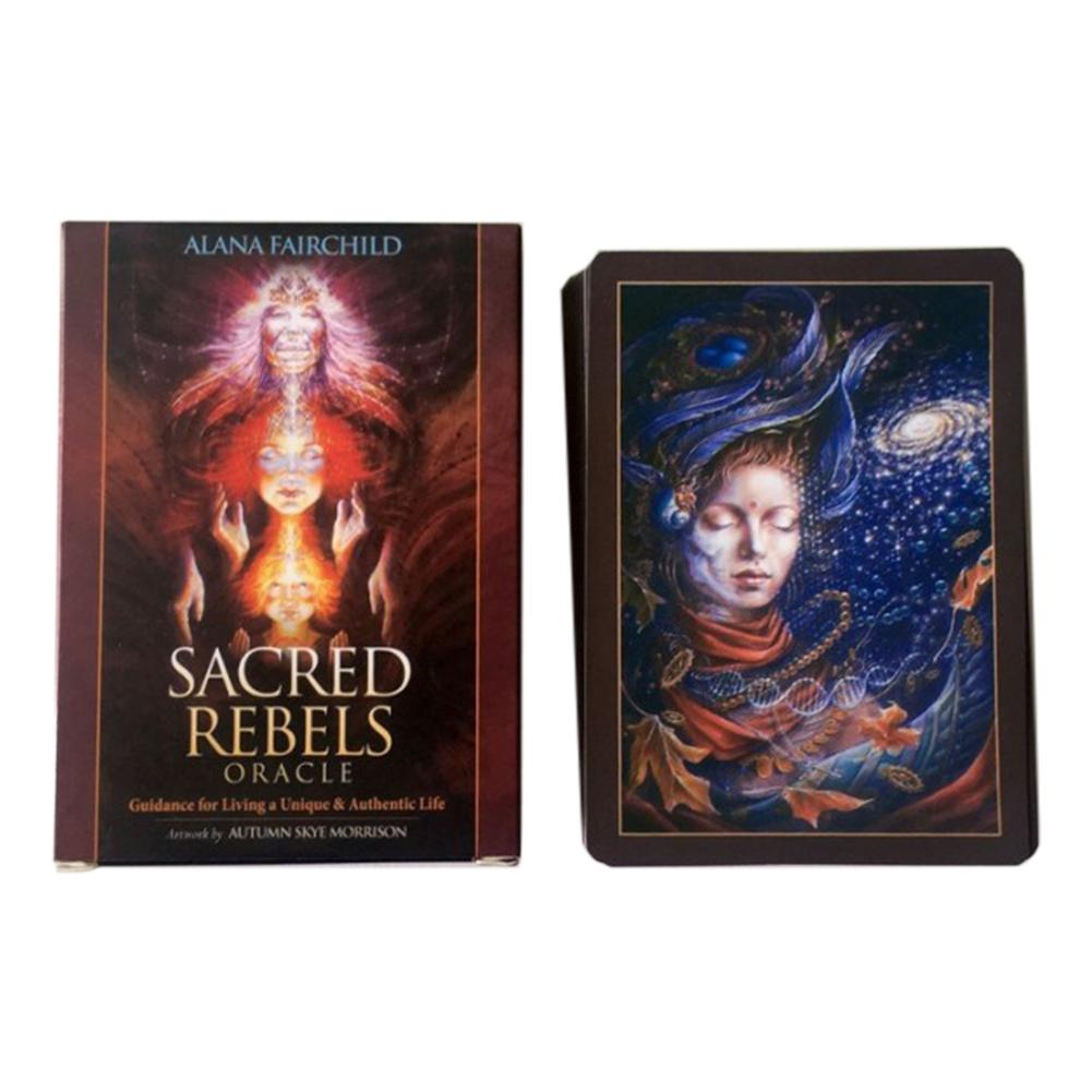 45 Pieces Sacred Rebel Oracle Tarot Cards Deck Board Games For Party Playing Card Table Tarot Game Entertainment