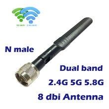 Dupla faixa wifi antena 8dbi alto ganho 2.4g 5g 5.8g omni direcional para fpv uav zangão impulsionador roteador repetidor de rede extersão