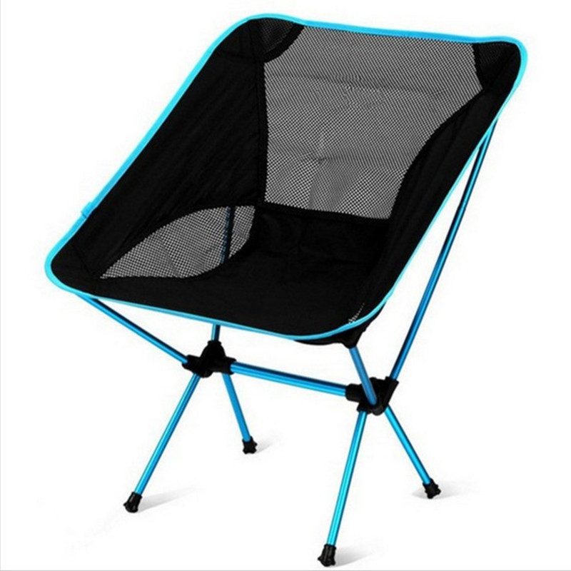 Beach-Chair Camping Lightweight Folding Fishing-Outdoorcamping Ultra-Light Portable Red title=