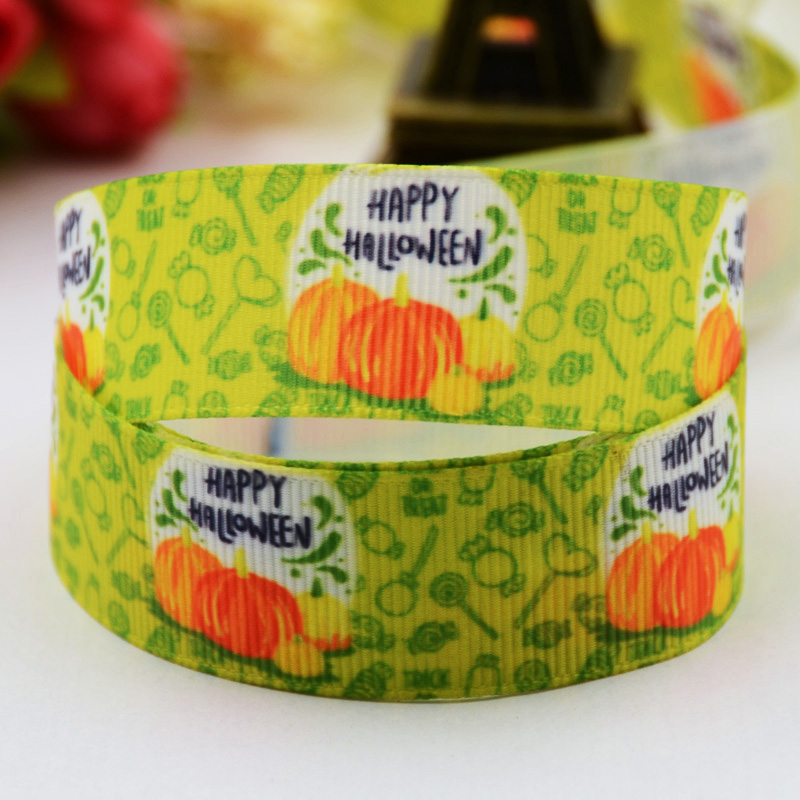 "Happy Halloween 3/"" 2/"" 1/"" 75mm 50mm 25mm Grosgrain Ribbon"