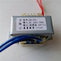 Dual 6V 9V 12V 15V 18V 24V 36V Transformator 220V eingang Power transformator 5VA EI41 5VA Transformator für pre-verstärker bord