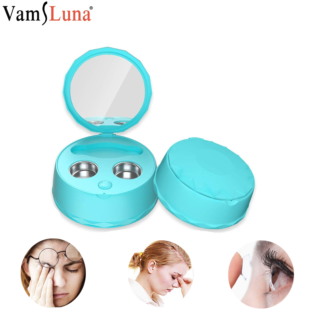 Portable Ultrasonic Contact Lens Cleaner Rechargeable Auto Sterilization Lenses Contact Lens Cleaning Case Outdoor Travel