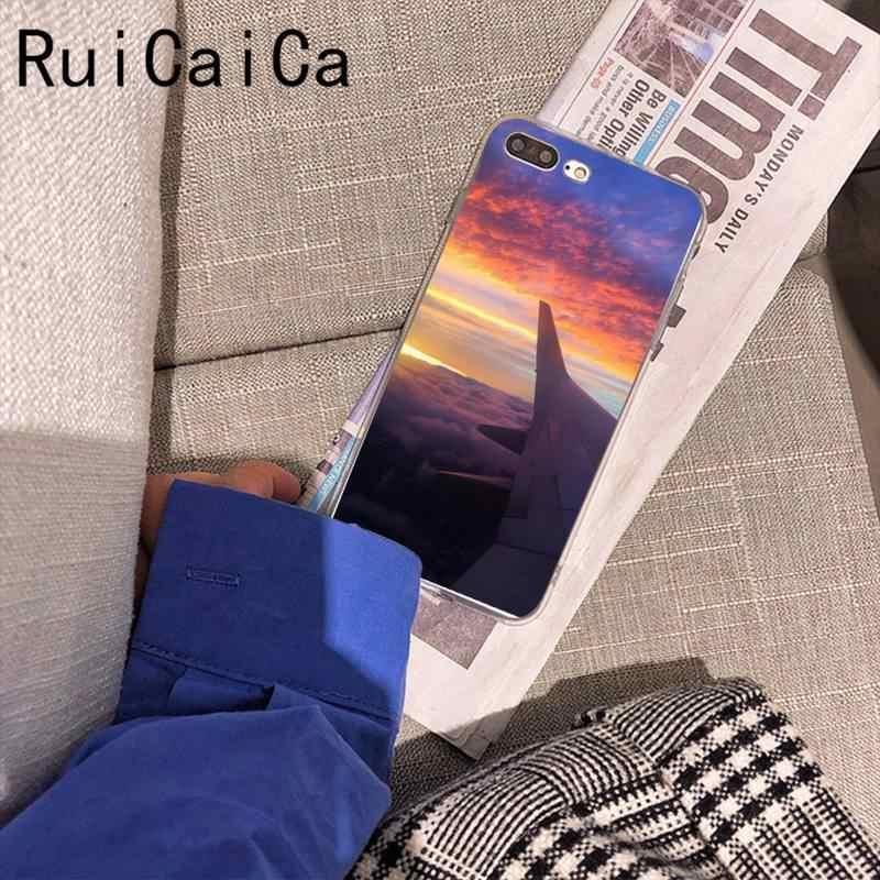 Ruicaica飛行機旅行ブリンブリンかわいい電話ケースのため 8 7 6 6sプラスx xs最大 5 5s、se xr 11 11pro promax