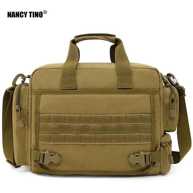 NANCY TINO Military Handbag 14inch Laptop Tactical Bags Camouflage Army Molle System Bag Ffor Camping Hiking Travel Outdoor 1