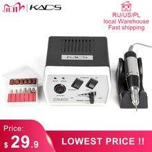 KADS חשמלי נייל מקדחת מניקור מכונת מנגנון 35W 30000RPM מניקור פדיקור כלי ערכת פצירה כלי עם כרסום חותך