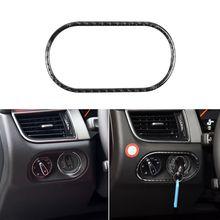 цена на For Porsche Macan 2015-2016 Carbon Fiber Car Head Light Lamp Switch Button Cover Trim Sticker G6KC