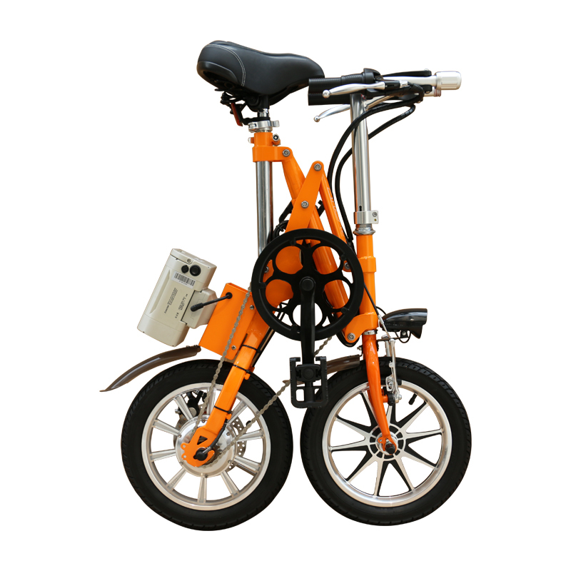 36V250W 14 inch folding electric bicycle with lithium battery brushless motor ebike 3