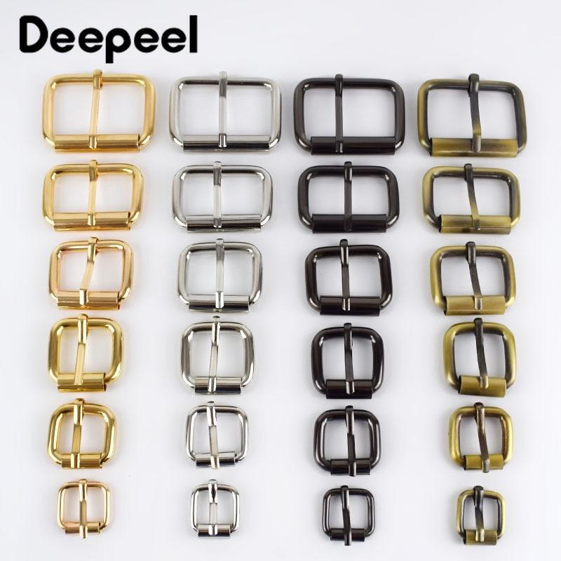 10pcs Deepeel 13-38mm Metal Buckles For Belt Shoes Bag Strap Webbing Slider Adjust Roller Pin Buckle DIY Leather Craft F2-13