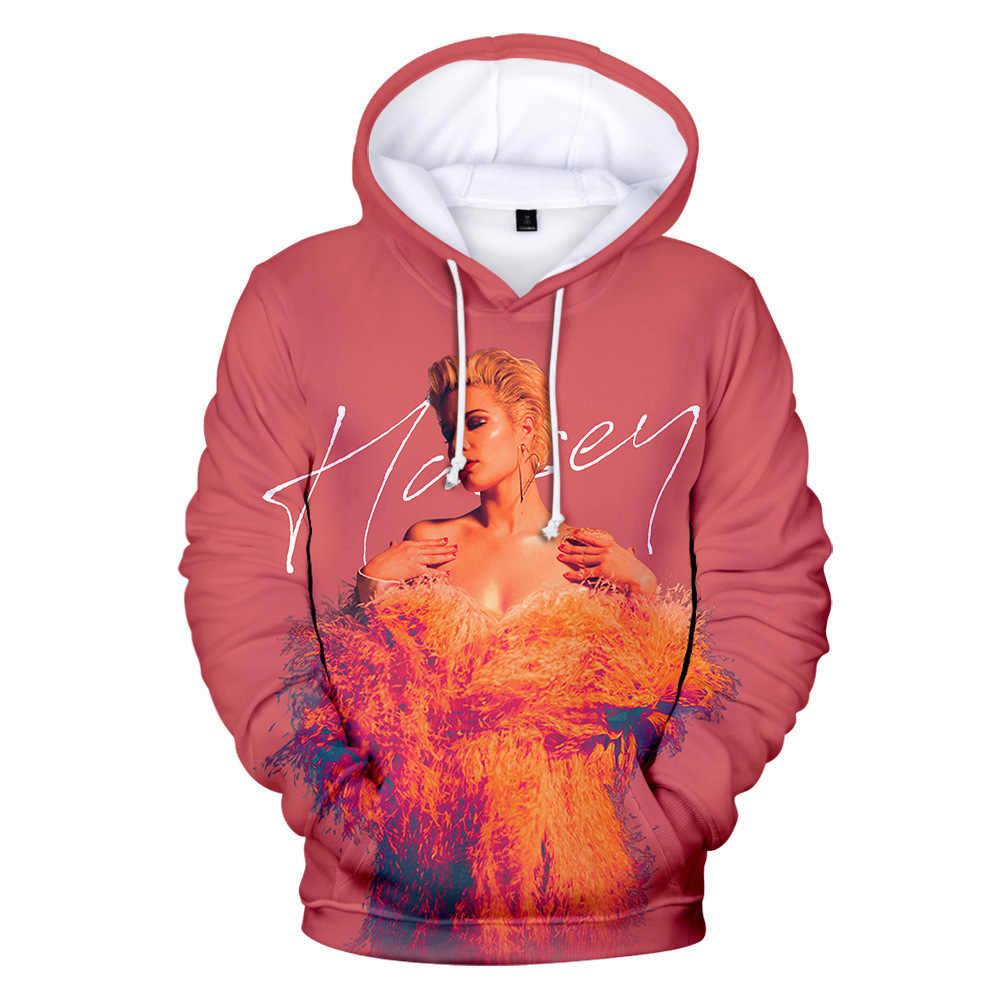 패션 브랜드 3d halsey hoodies 남성 가을 가을 운동복 긴 소매 풀오버 의류 가수 halsey hoodies women fashion top