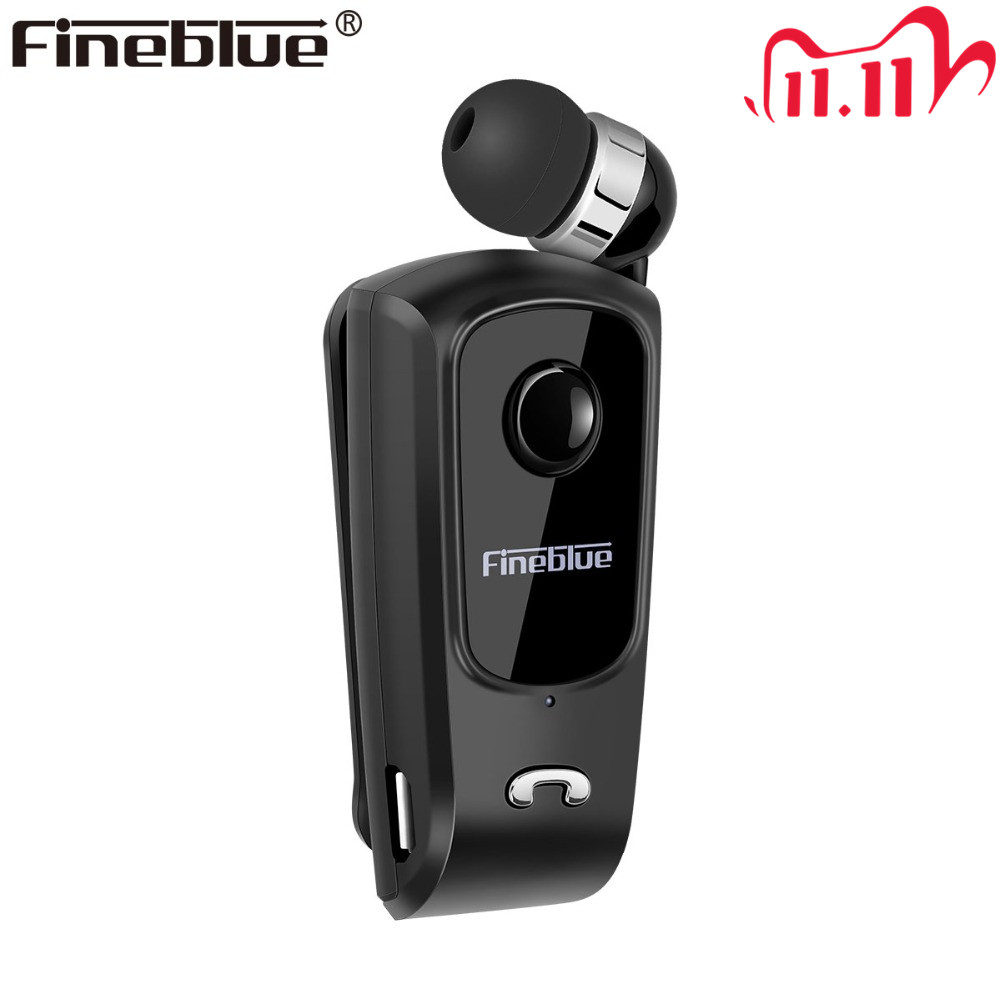 Fineblue F920 Mini Wireless Bluetooth Earphone  Telescopic Type Business Earphone Vibration Alert Wear Stereo Sport Earphone