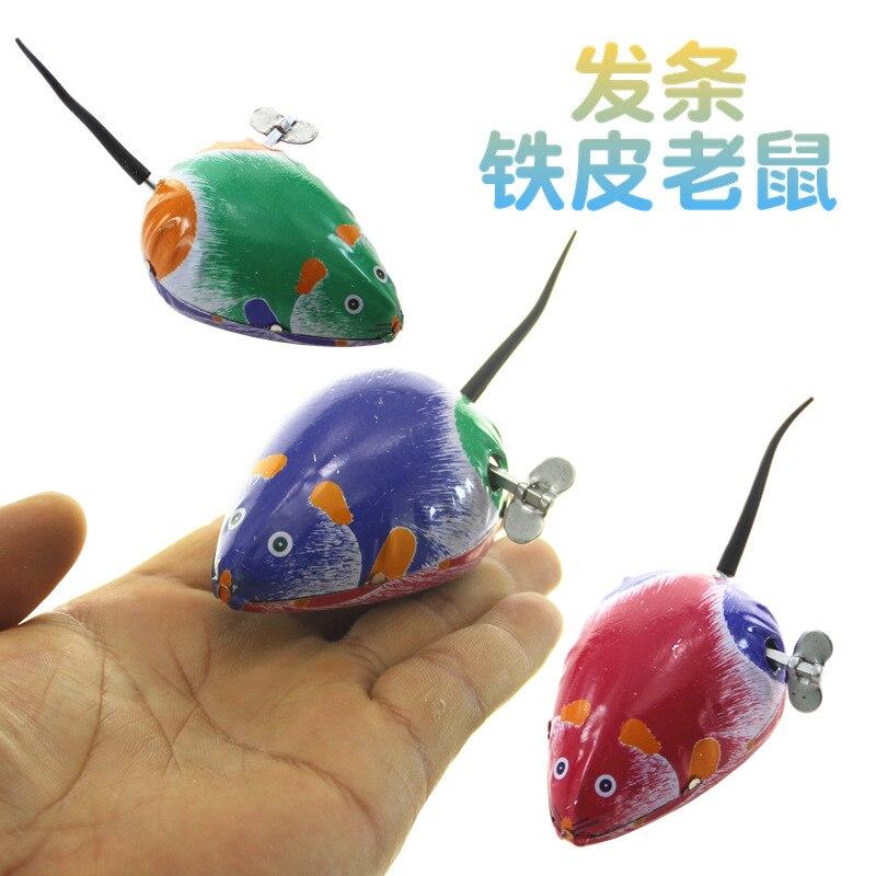 Creative-7cm Gift Box Chain Algam Mouse Customizable 80 Nostalgic Wind-up Toy