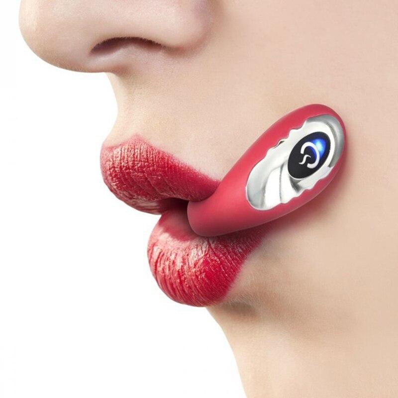 G Spot Oral Vibrator Dual Kopf Mund Vibrierende Penis Stimulation Blowjob Flirten Sexo Spielzeug Dildo Stimulator Sex Spielzeug für Erwachsene