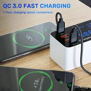 Image 3 - 60 واط 8 منافذ USB شاحن LED عرض سريع تهمة PD شاحن الهاتف محول PD3.0 QC3.0 سريع شاحن ل شاومي آيفون هواوي