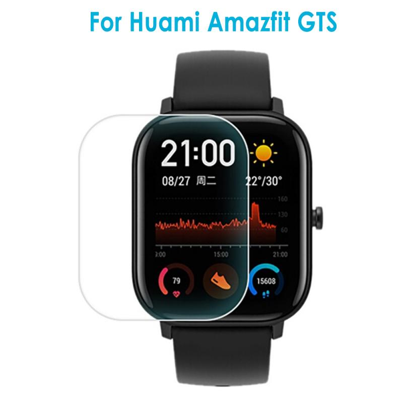 New 1pcs Tempered Glass Screen Protector 2019 For AMAZFIT GTS Smart Watch Clear Cover Screen Protective Film Accessories