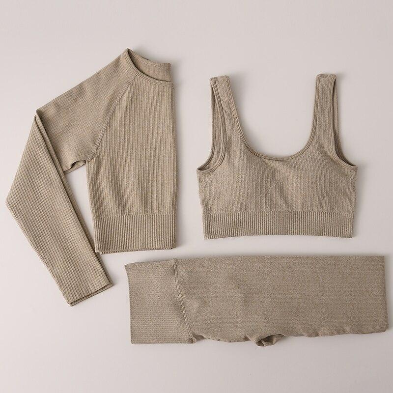Бесшовные леггинсы, женская одежда для спортзала, женские штаны для йоги с высокой талией, спортивный костюм, женская одежда для фитнеса, ко...
