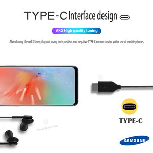 Image 4 - samsung AKG Earphones IG955 Type c In ear with Mic Wire Headset for Galaxy samsung S20 note10 huawei xiaomi smartphone