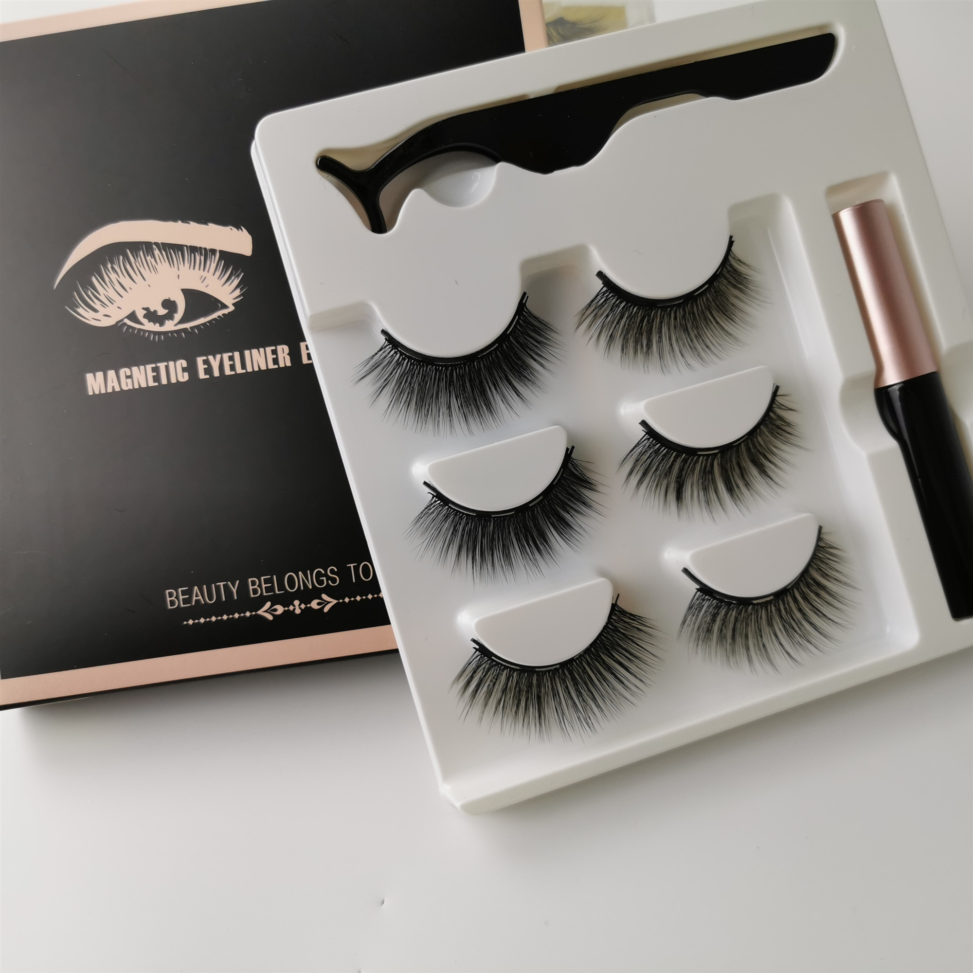 Magnetic Eyelashs Set Natural Long 3D Faux Magnet Eyelashes Easy To Wear Soft Mink Lashes False Eyelashes Cilios Magnetico