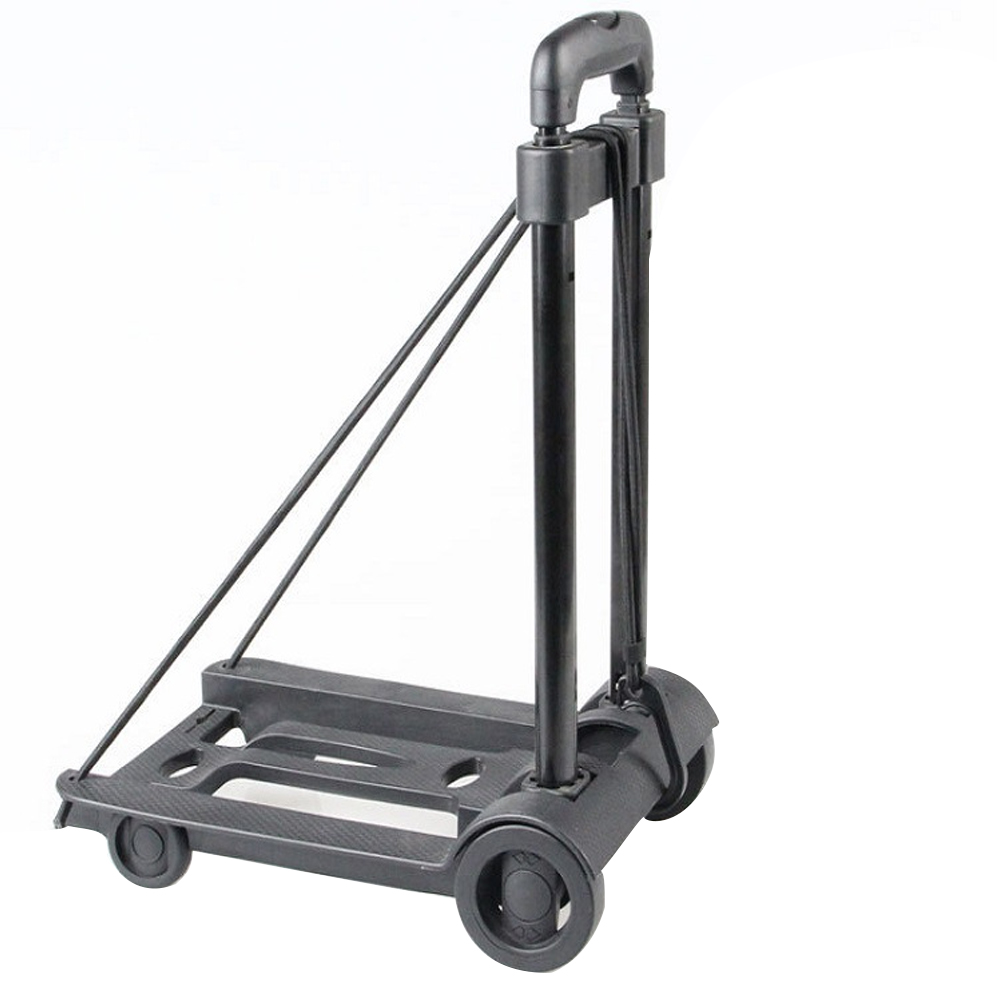 Sturdy High Load Practical Travel Trailer Multifunction Quiet Wheeling Durable Luggage Cart Portable Folding Compact Hand Pull