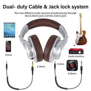 Image 2 - Oneodio Fusion Wired + Wireless Bluetooth Headphones For Phone Mic Over Ear Studio DJ Headphone Professional Recording Headset