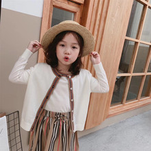 Fashion cotton knitted outwear coat T-shirt 2pcs/ set girls sweater cardigan mommy and me family mat