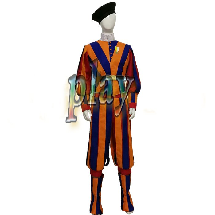 Carnival Switzerland Soldiers Costume for Adult Men and Women Cosplay Costume Swiss Guard Uniform Custom Made