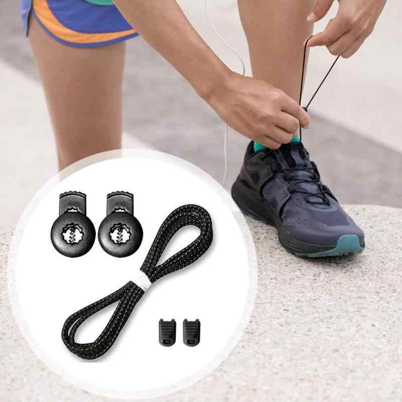 مرونة لا التعادل سريعة أربطة الحذاء في الهواء الطلق سلامة 100 سنتيمتر كسول الأربطة للأطفال و الكبار رياضية رباط الحذاء سريعة كسول الأربطة
