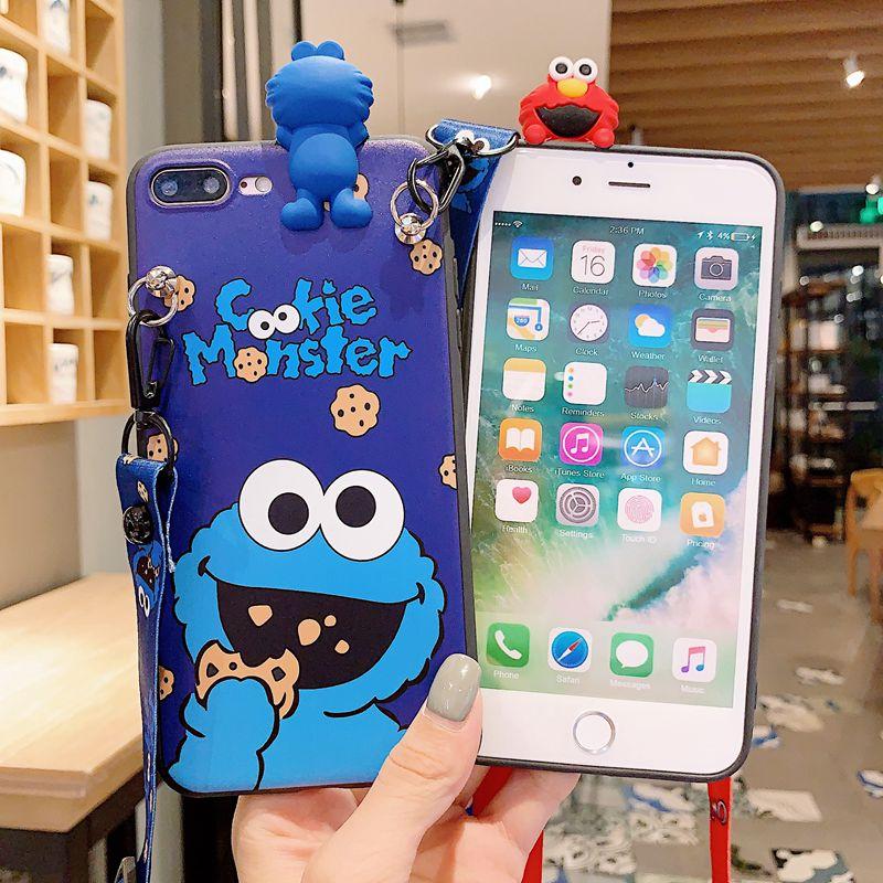 Cartoon Doll Shoulder Bag Phone Case For iPhone
