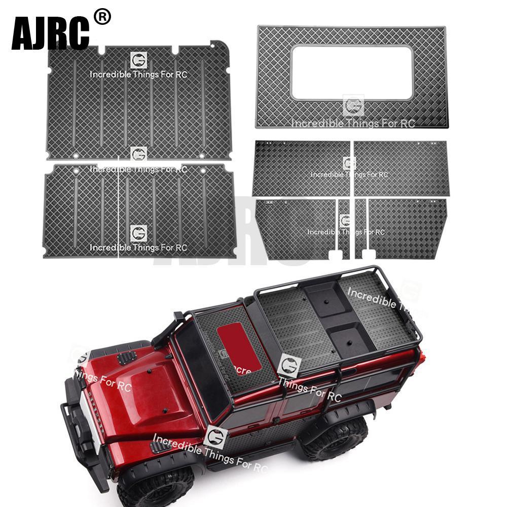 RC Model Metal Anti-skid Plate Luggage Rack Door Sunroof Decoration  For 1/10 RC Crawler Car Defender Traxxas TRX4 TRX-4 82056-4