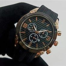 Reloj hombre 44mm relógio de ouro dos homens da marca de moda luxo relógios automáticos data do dia preto grande mostrador digital pulseira de borracha relógio