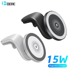 Magnetic Wireless Car Charger Mount Stand for iPhone 12 Mini 12 Pro Max For Magsafe 15W Fast Wireless Charger Car Phone Holder