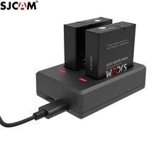 SJCAM SJ9 aksesuarları saklama çantası orijinal piller şarj edilebilir pil çifte şarj makinesi için SJ9 Strike/ SJ10 Pro eylem kamera çantası