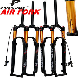 PASAK MTB Mountain Bike Forcella 26 27.5 29 pollici ER 1-1/8 Sospensione Forcella Gas resistenza Olio Linea di Smorzamento Blocco Freno A Disco