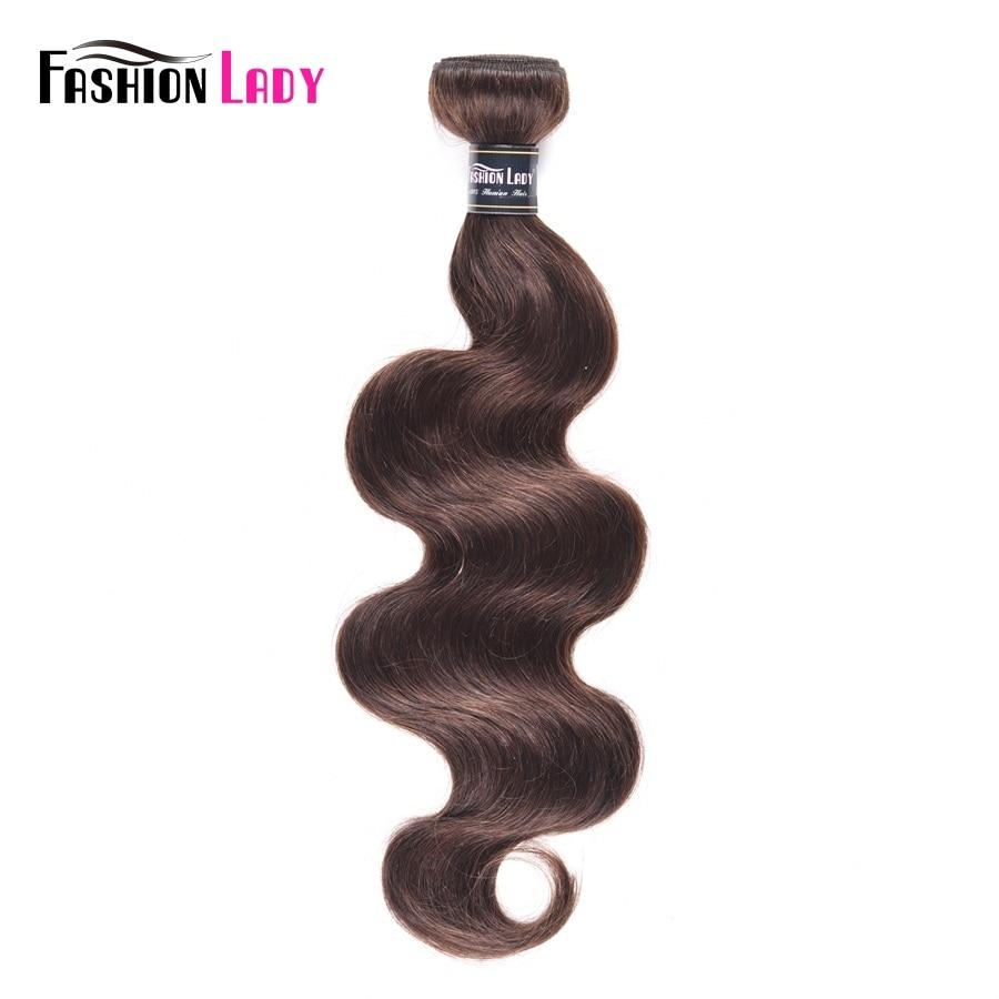 Fashion Lady Pre-colored Indian Human Hair Bundles Bodywave #2 Dark Brown Bundles Hair Extensions 1/3/4 Bundle Per Pack Non-remy