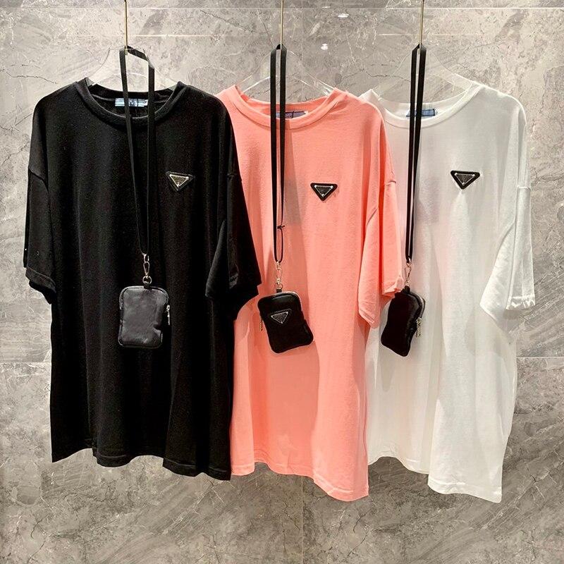 CamisetassoftcottonTshirt withbag FashionloosestyleT shirt short sleeve women casualT shirttops T-Shirts  - AliExpress