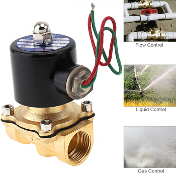 3/4 AC 110V / 220V Electric Solenoid Valve Pneumatic Valve Brass Body for Water / Oil / Gas gas bbq grill gas fire pit gas heater solenoid valve 3 8npt brass valve