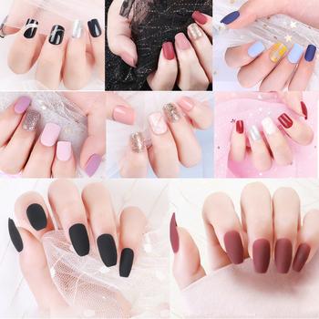 24 30 sztuk odpinany sztuczne paznokcie zestaw tipsów przedłużanie sztuczne paznokcie naciśnij na projekt Manicure sztuczne sztuczne paznokcie do paznokci tipsów z klejem tanie i dobre opinie CN (pochodzenie) Palec as pictures 1 Box M358 M376 Z żywicy 24pcs 30pcs Pełne końcówki paznokci no need color gel false nail tips