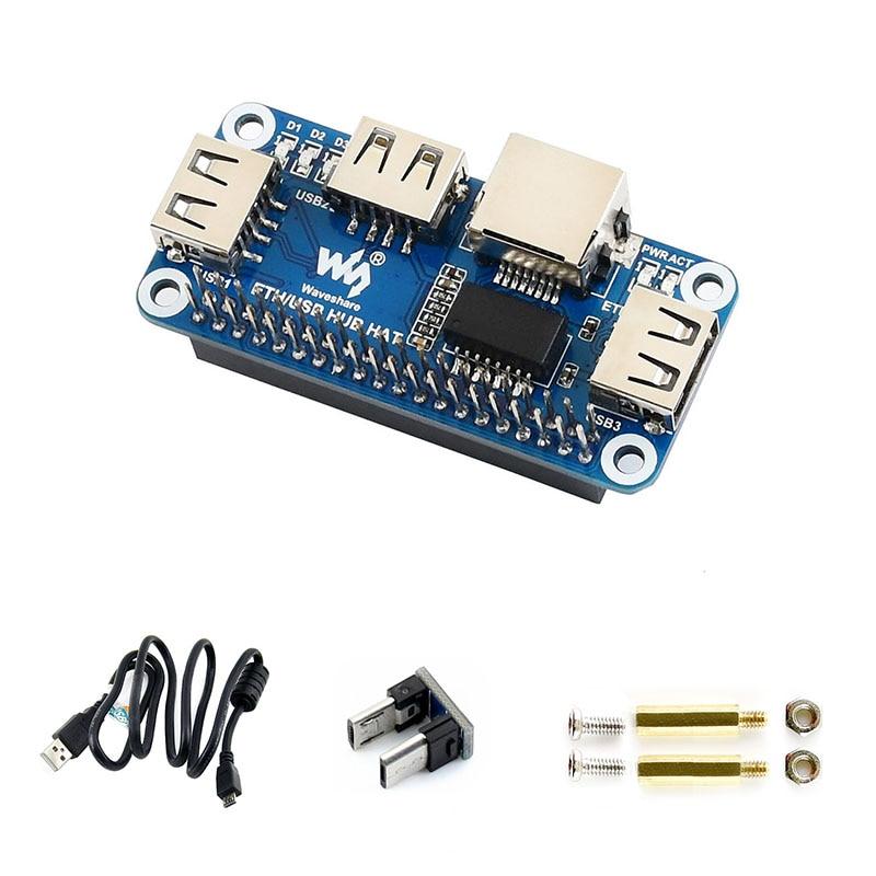 Raspberry Pi 4B ETH/USB HUB HAT RJ45 Enthernet Port and USB Port for Raspberry Pi Zero W|Demo Board Accessories| |  - title=